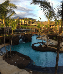 brand new main pool at koloa landing resort in hawaii
