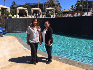 Jovelyn Aquino, Inspectress & May Bueno, Assistant Housekeeping Manager
