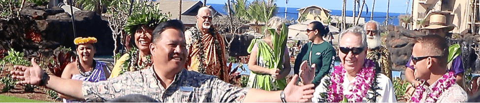 ike cockett, bill child, and todd hadley at koloa day of the property blessing