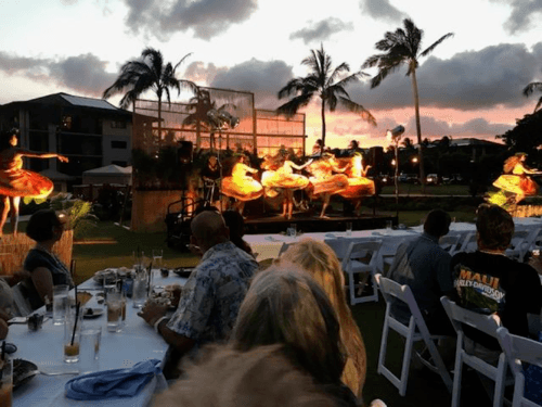 hawaiian luau at koloa on kauai