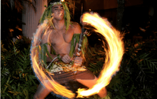 luau flame thrower in kauai hawaii